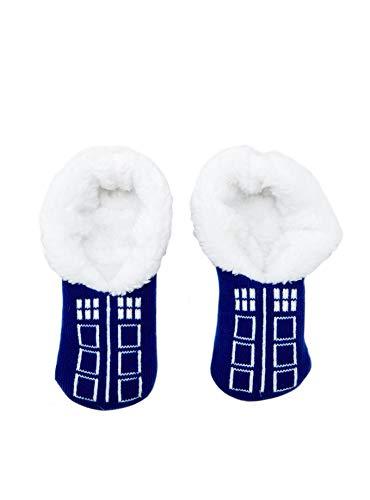 Tvmoviegifts Doctor Who Slip-On Tardis Slippers White
