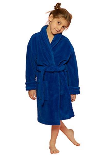 (Kids Robe, Microfleece Soft Plush Bathrobe (Royal Blue, Large))