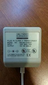 Altec - Altec Lansing 25w DC 15v AC Adapter MAU48-15-800D1 800mA A1664