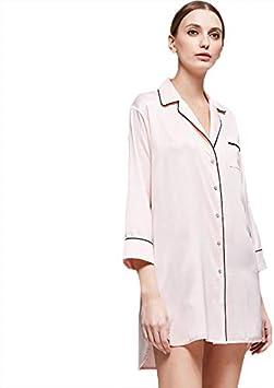 Jessica Pijama Mujer Pijamas para Mujer Camisa Camisera De Manga Larga Cómoda De Poliéster Ropa De Dormir De Poliéster: Amazon.es: Deportes y aire libre
