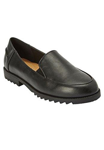 Comfortview Femmes Plus Taille Sharna Plats Noir
