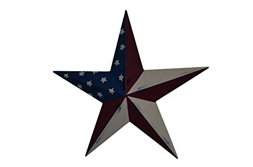 53 Inch Heavy Duty Metal Barn Star Painted Solid Olde Glory. For Sale