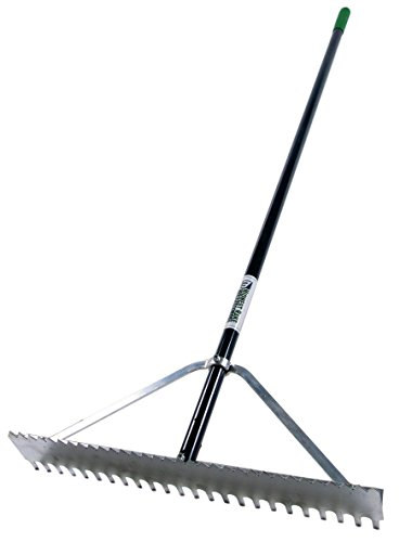 Pack of 6 - Midwest Rake 12524 DP Double Play / Dual-Purpose Rake - 24'' Head by Midwest Rake