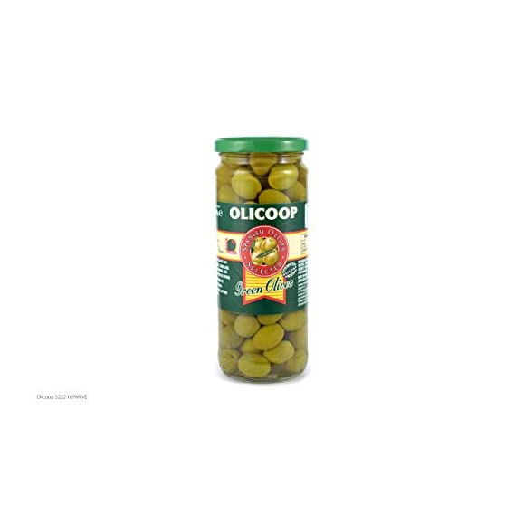 Olicoop Green Whole Olive, 450g, Produced in Spain