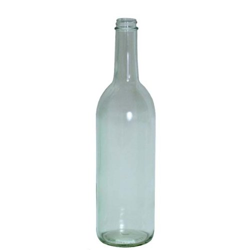 750ml Clear Glass Claret Bottles, screw top