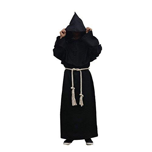 Labellevie Medieval Hooded Monk Robe Full Length Adult