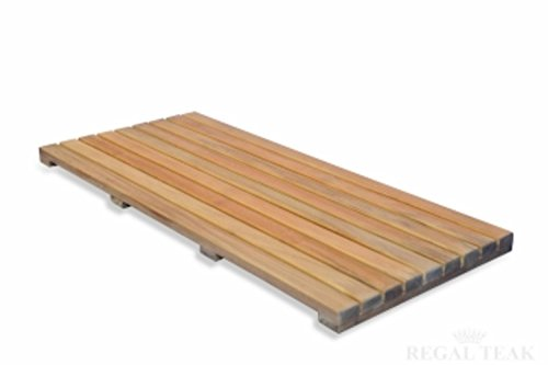Natural Teak Spa Bath Mat 32''x14'' by Eco-Friendly Furnishings