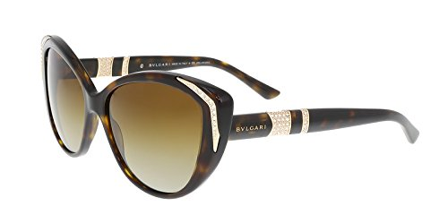 Bvlgari 8151BM 504/T5 Tortoise 8151BM Cats Eyes Sunglasses Polarised Lens - Bvlgari Sunglasses Eye Cat