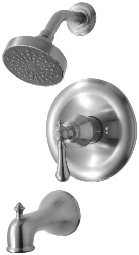 - Hardware House H10-5279 Ashbury Series Single Handle Tub and Shower Mixer, Brushed Nickel