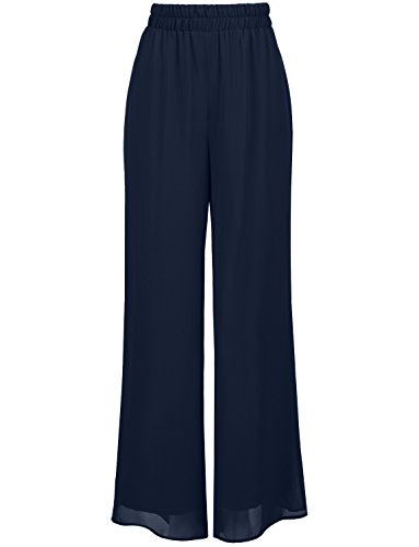NE PEOPLE Women's Wide Leg Palazzo/Chiffon Casual Pants ()