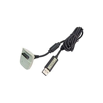 Cable USB Cargador Batería para Mando Xbox 360 - Blanco ...