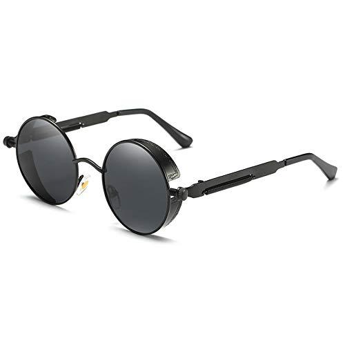 Gafas de Sol polarizadas reflexivas Redondas Retro del Hippie con el Pequeño  Marco de Metal 47mm f3987df39d