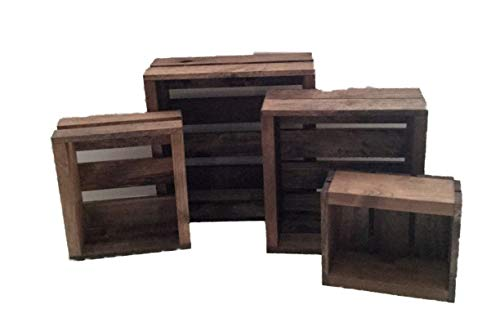 of 4 Nesting Box Wood Crates ()