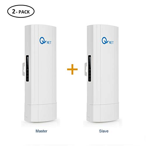 QW CPE5450 Wireless Bridge Kit, 5GHz 450Mbps 802.11ac Pre-configured CPE Kit,Indoor & Outdoor Point to Point Client Bridge, Wireless Access Point【2-Pack】