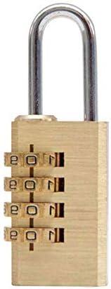 GXWLWXMS パスワードの組み合わせロック、真鍮ロック4桁の数字コードロック解除セキュリティキャビネットスーツケース荷物引き出しパスワード南京錠