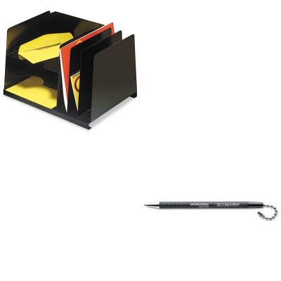 KITMMF264R3HVBKMMF28704 - Value Kit - MMF Combination Horizontal/Vertical Steel File (MMF264R3HVBK) and MMF Secure-A-Pen Replacement Ballpoint Counter Pen (MMF28704)