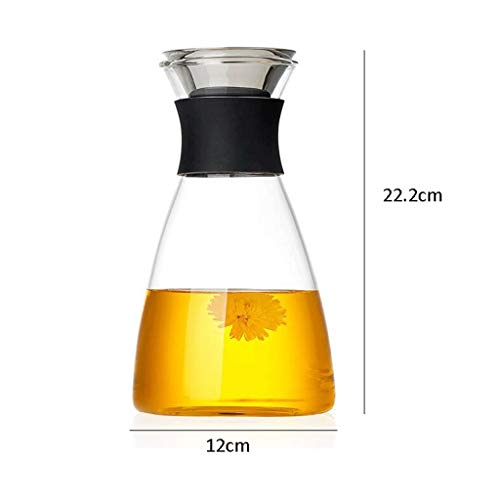 High Temperature Resistance ZS Glass Cold Water Bottle Home High Temperature Water Bottle Explosion Proof Glass Teapot Large Capacity Fruit Juice Cold Water Kettle (Capacity : 1250ml) by Carl Artbay (Image #1)