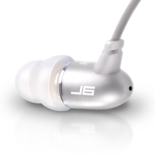 (JLab Audio J6 High Fidelity Metal Ergonomic Earbuds Style Headphones, Guaranteed for Life - Titanium Silver)