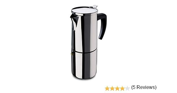 Fagor - Cafetera Inox Etna4, 4 Tazas, 380 Ml, Acero Inox, Asa Soft: Amazon.es: Hogar