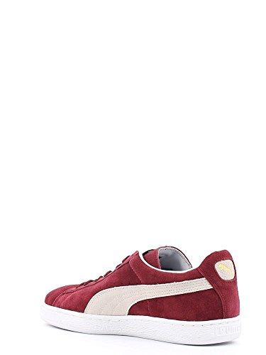 Puma Suede Classic Casual Emboss- Zapatillas para hombre Blanco-Rojo