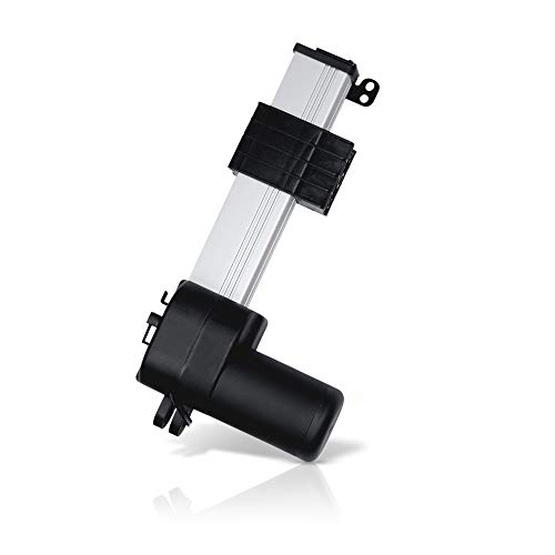 Track Linear Electric Actuator 12V - (4 in. / 900 lbs.) | Innovative Design and Durable Stroke | for Home, Office, Hospitality, Robotics, Cabinetry, Homecare beds | Model: PA-18-4-900