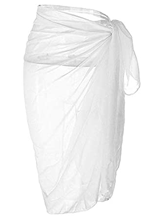 ZXYang Womens Swimwear Chiffon Cover Up Solid Color Beach Sarong Swimsuit Wrap