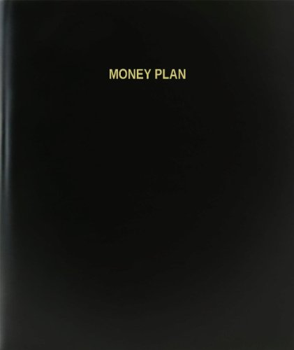 BookFactory® Money Plan Log Book / Journal / Logbook - 120 Page, 8.5''x11'', Black Hardbound (XLog-120-7CS-A-L-Black(Money Plan Log Book)) by BookFactory