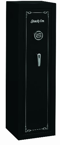 Stack-On SS-10-MB-E 10 Gun Fully Convertible Security Safe with Electronic Lock, Matte Black from Stack-On Products Company- Dropship