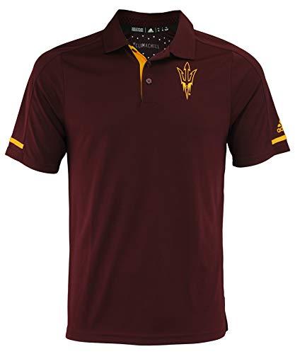 - adidas NCAA Men's Climachill Team Logo Performance Polo, Arizona State Sun Devils-Maroon Small