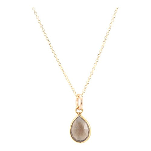 Nathis Smokey Teardrop Gemstone Necklace