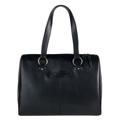 FranklinCovey Basics Leather Laptop Tote - Black