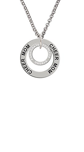 Cheer Mom Necklace (Passionate Fearless Strong Infinity Ring - Cheer Mom Affirmation Ring Necklace)