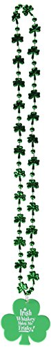 Beads w/Printed Whisky Makes Me Frisky Medallion Party Accessory (1 count) (1/Card)