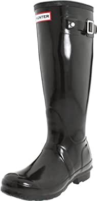 Hunter Original Tall Black Womens Boots Size 3 UK