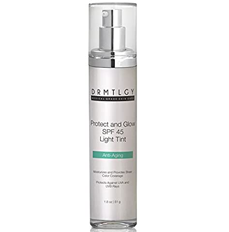 Anti Aging Light Tinted Moisturizer SPF 45 Made For All Skin Types. All-In-One SPF and Foundation With Broad Spectrum Protection Against UVA and UVB (Desert Pure Yucca)
