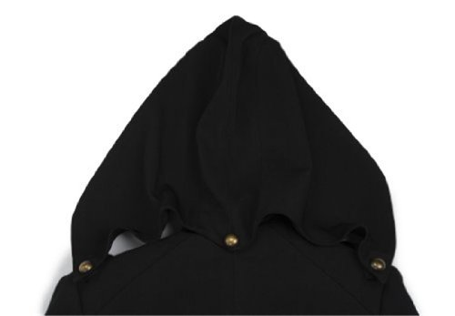 Hoodie Costume Jacket Coat - New design,Black with Red (Men-Large)