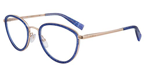 Eyeglasses Furla VFU 254 Blue Glitter 0WA2