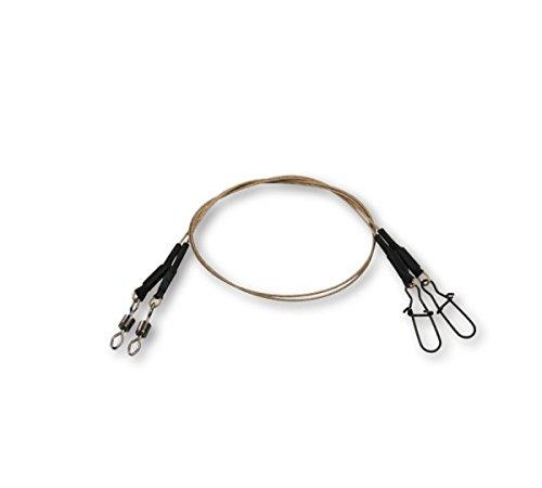 DAM Fz Effzett Coated Core49 Spin Leader 30cm 20kg 56406 7x7 Stahlvorfach Vorfach zum Blinkern Gummifischangeln