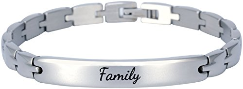 Elegant Surgical Grade Steel Womens Inspirational Quote Mantra Bracelet, Many Styles (Family) by Smarter LifeStyle