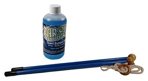 Price comparison product image Far Out Bubbles Giant Bubble Wand Kit, 18 Inch Wands, Wands are Blue in Color, 1 Kit includes 1 Set of Wands and 8 oz of Bubble Mix.