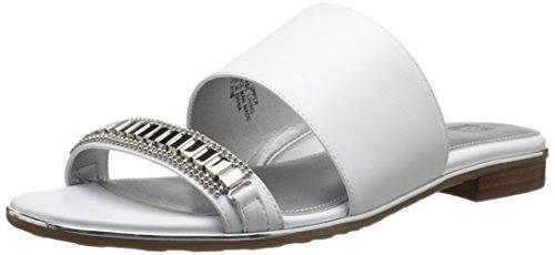 Anne Klein Napper vestido sandalias de la mujer White