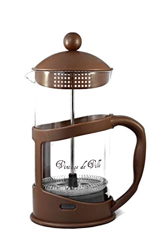Stainless Steel French Press Coffee Maker Heat Resistant Vintage Style, Press Pot, Comfortable handle, 34Oz/1000ml (4…