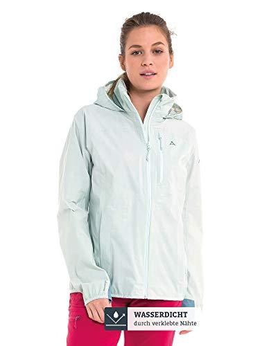 Schöffel Damen Jacket Neufundland4 wind- und wasserdichte Damen Jacke mit Pack-Away-Tasche, superleichte und flexible Regenjacke
