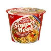 Noodles Case (Nissin Beef Flavor Souper Meal Noodles Cup (Case of 6))