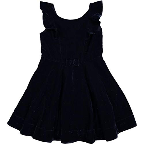 Polarn O. Pyret Shimmer Velvet Holiday Dress (2-6YRS) - 2-3 Years/Dark Sapphire