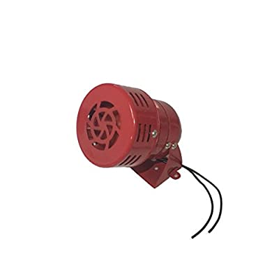 AC 110V Metal Material Red Industrial Mini Alarm High Decibel Mini Siren Motor Siren Horn Model MS-190