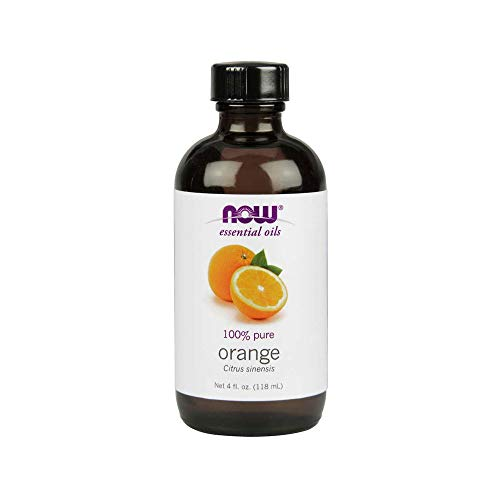 Now Essential Oils, Orange Oil, Uplifting Aromatherapy Scent, Cold Pressed, 100% Pure, Vegan, 4-Ounce (Orange Essential Oil)