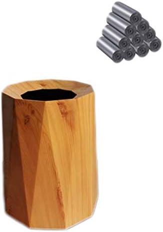 現代の家庭用木製ごみ箱、耐久性、ノンスリップ、柔軟なファッショナブルな、太い丈夫で、バスルーム、パウダールーム、キッチン、ホームオフィス (サイズ : F)