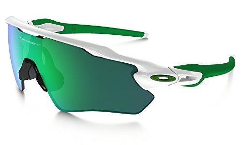 Oakley Radar EV Path Sunglasses Polished White / Jade Irid. & Care Kit - White Oakley Radar