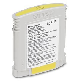 Pitney Bowes 787-F Yellow Ink Cartridge Compatible for Connect+ Mailing by saveonpostageink.com